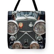 1950 Jaguar Xk120 Roadster Grille Tote Bag by Jill Reger