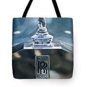 1952 Rolls-royce Hood Ornament Tote Bag by Jill Reger