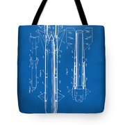 1953 Aerial Missile Patent Blueprint Tote Bag by Nikki Marie Smith