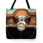 1954 Chevrolet Corvette Convertible  Steering Wheel Tote Bag by Jill Reger