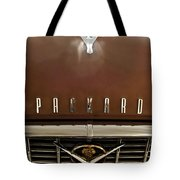 1955 Packard 400 Hood Ornament Tote Bag by Jill Reger