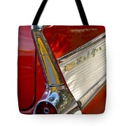1957 Chevrolet Belair Taillight Tote Bag by Jill Reger