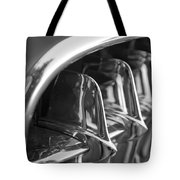 1957 Corvette Grille Black And White Tote Bag by Jill Reger