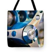 1958 Chevrolet Corvette Steering Wheel Tote Bag by Jill Reger
