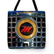 1958 Nash Metropolitan Hood Ornament 3 Tote Bag by Jill Reger