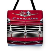 1959 Chevrolet Grille Ornament Tote Bag by Jill Reger