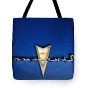 1959 Pontiac Bonneville Emblem Tote Bag by Jill Reger