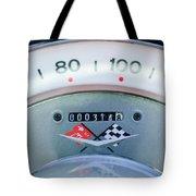 1960 Chevrolet Corvette Speedometer Tote Bag by Jill Reger