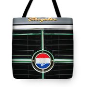 1960 Chrysler 300f Convertible Grille Emblem Tote Bag by Jill Reger