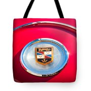 1960 Chrysler Imperial Crown Convertible Emblem Tote Bag by Jill Reger