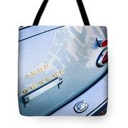 1960 Porsche 356 B 1600 Super Roadster Rear Emblem - Taillight Tote Bag by Jill Reger