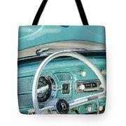 1962 Volkswagen Vw Beetle Cabriolet Steering Wheel Tote Bag by Jill Reger