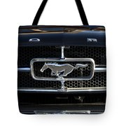 1965 Shelby Prototype Ford Mustang Hood Ornament Tote Bag by Jill Reger