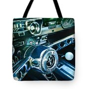 1965 Shelby Prototype Ford Mustang Steering Wheel Emblem 2 Tote Bag by Jill Reger