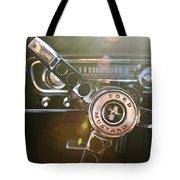 1965 Shelby prototype Ford Mustang Steering Wheel Emblem Tote Bag by Jill Reger