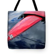 1966 Chevrolet Corvette Hood Emblem Tote Bag by Jill Reger