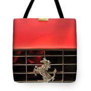 1966 Ferrari 330 GTC Coupe Hood Ornament Tote Bag by Jill Reger