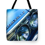 1967 Chevrolet Chevelle Malibu Head Light Emblem Tote Bag by Jill Reger