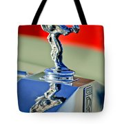 1976 Rolls Royce Silver Shadow Hood Ornament Tote Bag by Jill Reger