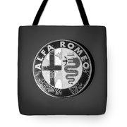 1986 Alfa Romeo Spider Quad Emblem Tote Bag by Jill Reger