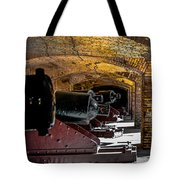 19th Century Cannon Line Tote Bag by Optical Playground By MP Ray