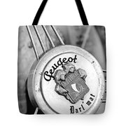 1937 Peugeot 402 Darl'mat Legere Special Sport Roadster Recreation Steering Wheel Emblem Tote Bag by Jill Reger