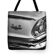 1963 Ford Galaxie Front End And Badge Tote Bag by Kaye Menner