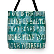 A Dog Tote Bag by Debbie DeWitt