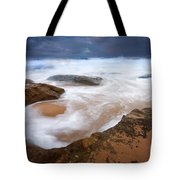 Angry Sea Tote Bag by Mike  Dawson