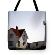 Cape Neddick Lighthouse Tote Bag by Skip Willits