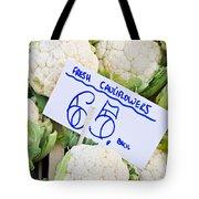 Cauliflower Tote Bag by Tom Gowanlock