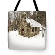 Chapel In The Woods Stowe Vermont Tote Bag by Edward Fielding