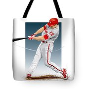 Chase Utley Tote Bag by Scott Weigner