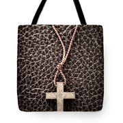 Christian Cross On Bible Tote Bag by Elena Elisseeva