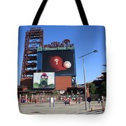 Citizens Bank Park - Philadelphia Phillies Tote Bag by Frank Romeo