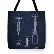 Corkscrew Patent Drawing From 1884 Tote Bag by Aged Pixel