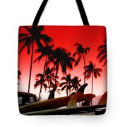 Fins N' Palms Tote Bag by Sean Davey