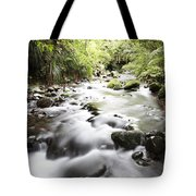 Forest Stream Tote Bag by Les Cunliffe