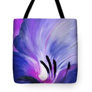 From The Heart Of A Flower Blue Tote Bag by Gina De Gorna