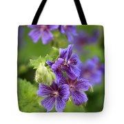 Geranium Himalayense Tote Bag by Frank Tschakert