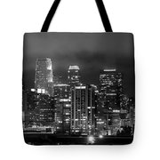 Gotham City - Los Angeles Skyline Downtown At Night Tote Bag by Jon Holiday