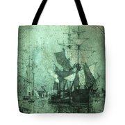 Grungy Historic Seaport Schooner Tote Bag by John Stephens