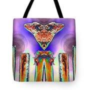 2 Headed Lizard  Tote Bag by Belinda Lee