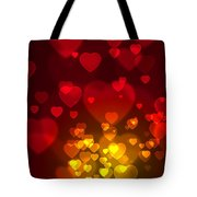 Hearts Background Tote Bag by Carlos Caetano