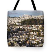 Homes Of San Francisco Tote Bag by B Christopher