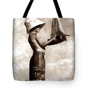 Little Boy In The Beach Tote Bag by Emerico Imre Toth
