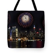 New York City Celebrates the 4th Tote Bag by Susan Candelario