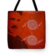 Nikola Tesla Patent From 1886 Tote Bag by Aged Pixel