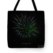 Psychedelic Fireworks Tote Bag by John Stephens