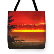 Red Pacific Tote Bag by Robert Bales